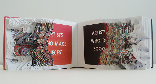 Cutting Book Series with ED Ruscha Artists who make pieces, Artists who do books
