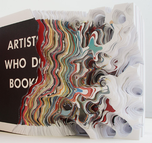 Cutting Book Series with ED Rushca Artists who make pieces, Artists who do books (detail)